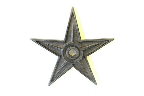 9   LARGE CAST IRON TEXAS   AMERICANA  STAR  OLD  BUILDING WASHER  BROWN COLOR