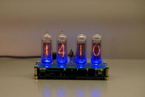 Nixie clock 4 vintage tube IN-14 RGB