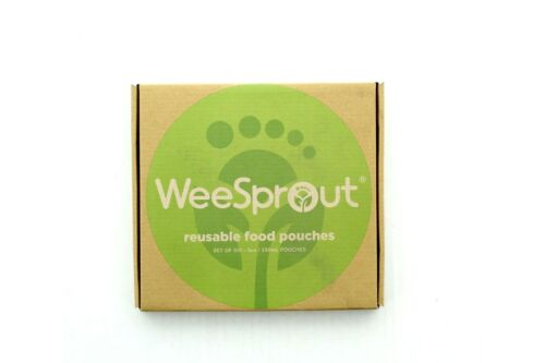 WeeSprout Reusable Food Pouches, 6 Pack, 5 Ounce