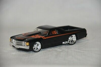 "Hot Wheels 1/50 G Machines '71 El Camino, Black, Chrome Wheels, 4"" Die-Cast Car"