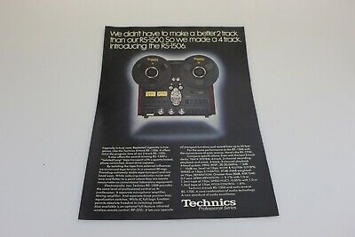 Vintage Technics Professional Series RD-1500 Advertising Collectible Ad Audio