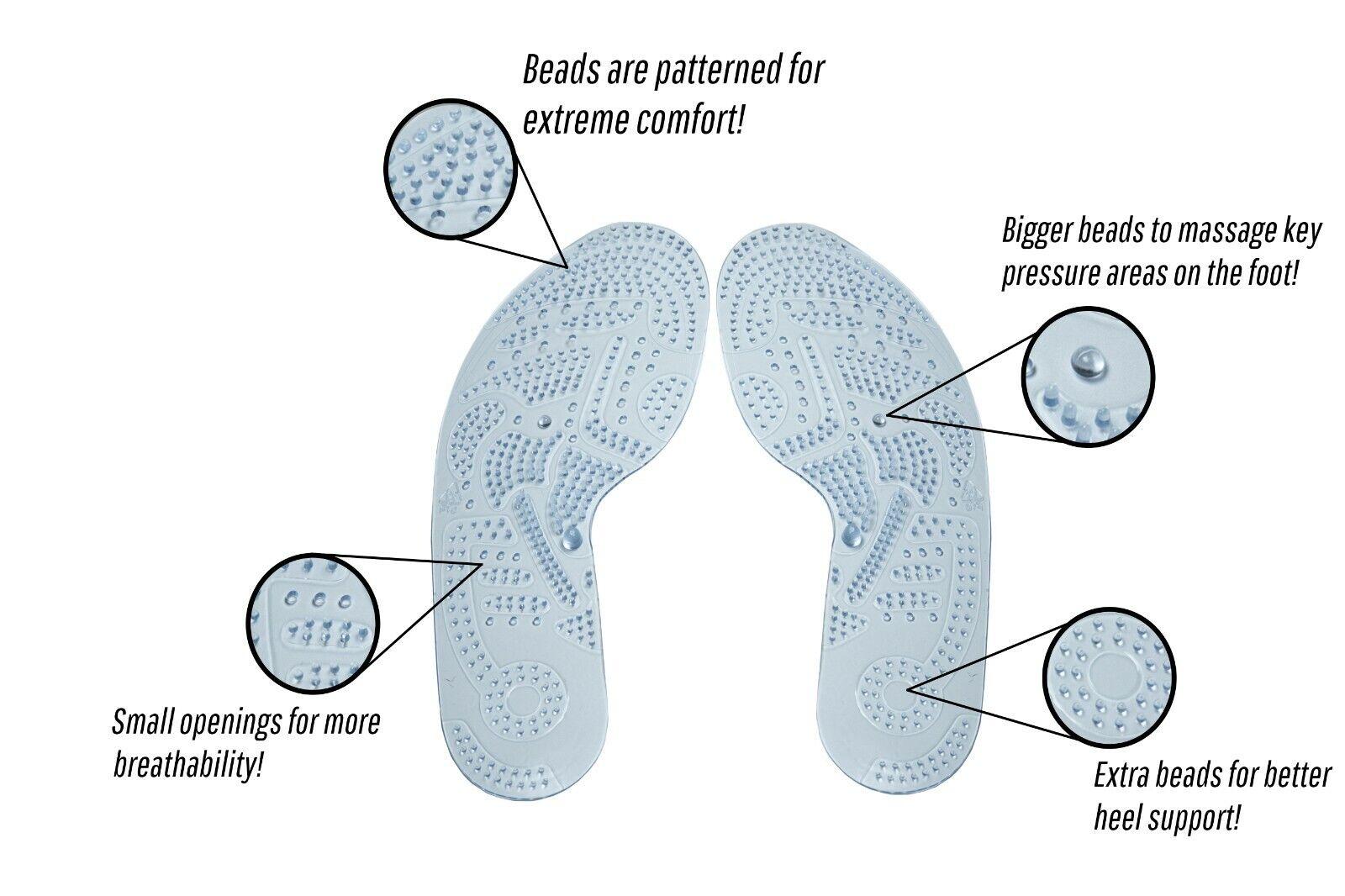 Acupressure Insoles Futzuki Massaging Foot Spa Women Men Washable and Cutable Health & Beauty
