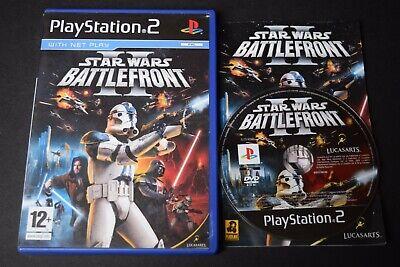 Star Wars Battlefront 2 Good Condition Manual PlayStation PS2 UK PAL