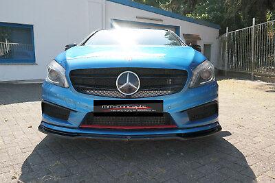 CUP Spoilerlippe für Mercedes A Klasse W176 AMG Line Front Schwert Ansatz