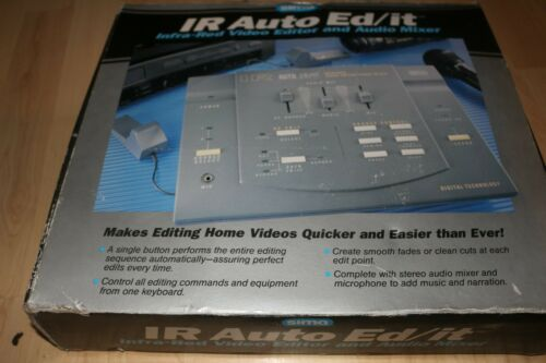 Sima IR Auto Ed/It Infra-Red Video Editor And Audio Mixer In Box