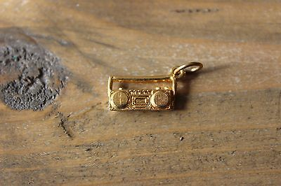 Gold Plated Boom Box Stereo Charm