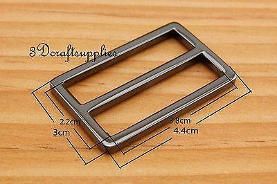 strap adjuster rectangle sliders alloy gunmetal 38