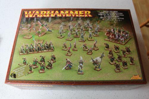 Games Workshop Fantasy Wood Elves Army Box 2005 Elf NIB New Boxed Army Metal GW