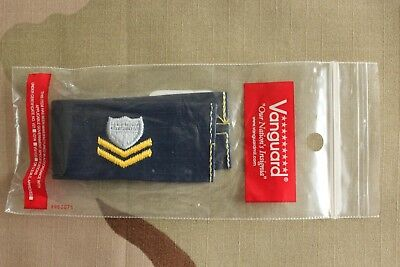 USCG US COAST GUARD PO2 PETTY OFFICER 2ND CL. E-5 RANK EMBROIDERED INSIGNIA TAPE Coast Guard Officer Rank