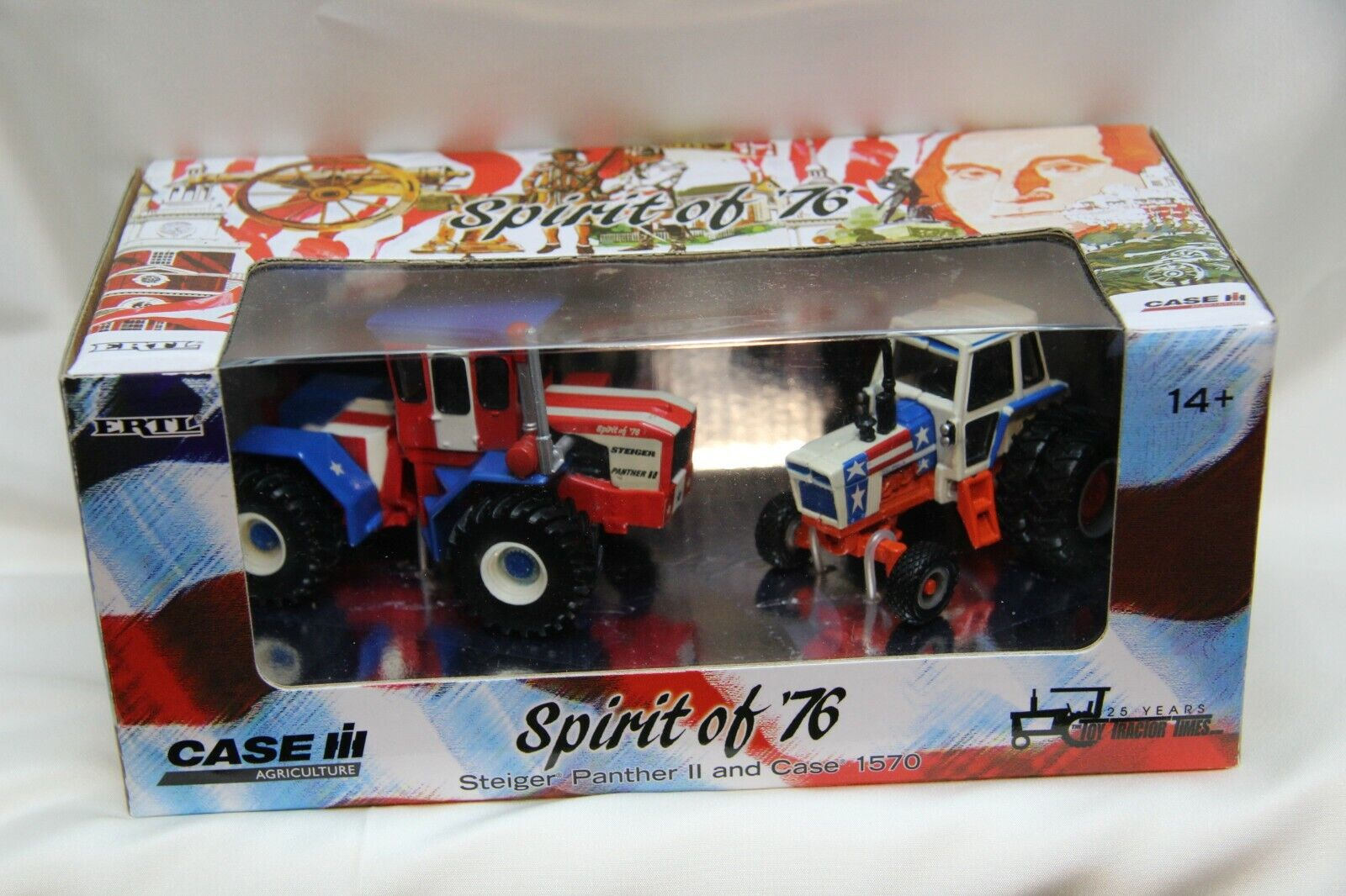 ERTL 1:64 STEIGER PANTHER II and CASE 1570 SPIRIT OF 76 TRACTOR SET IH Toy Tract