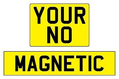 Reflective yellow magnetic number plate registration complete, caravan trailer