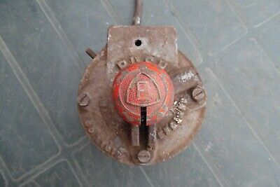VINTAGE INDUSTRIAL CAST E-STOP SWITCH MADE IN ENGLAND