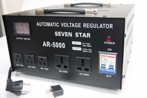 SEVENSTAR AR 5000W Heavy Duty Voltage Regulator Stabilizer with Built In Step