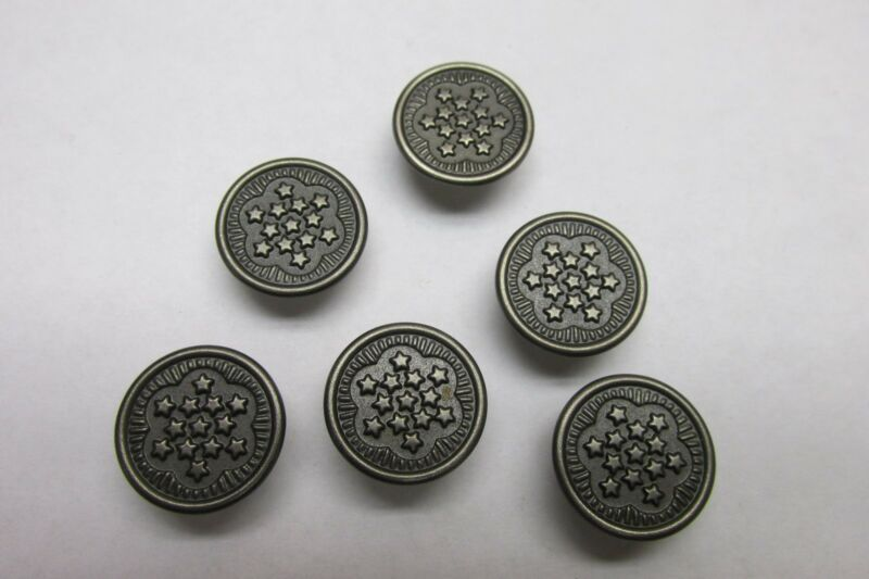 US WW2 LOT OF 6 13 STAR BUTTONS UNIFORM HBT NOS US ARMY USMC