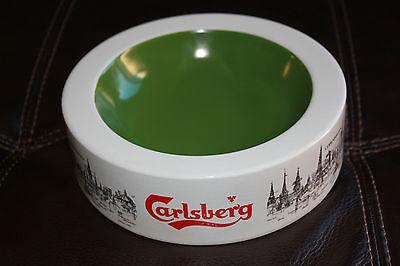 Rare CARLSBERG beer ceramic ashtray Made in England Copenhagen MINT