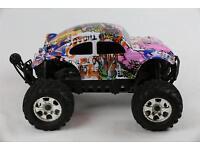 Custom Bug Body Muddy Orange for HPI Savage Flux HP 1//8 VW Baja Beetle