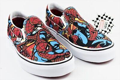 Vans X Marvel Spiderman Mens Size 10.5 Classic Slip On Skate Shoes - Spiderman Vans