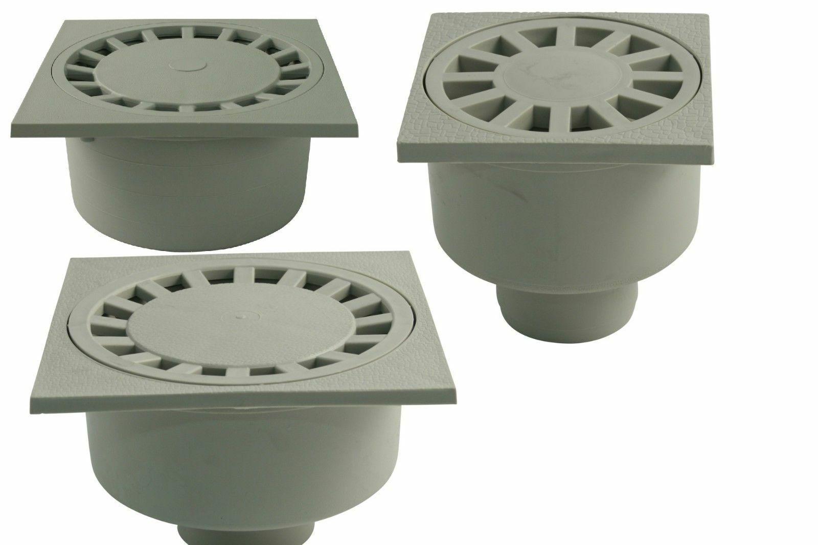 Bodenablauf Duschablauf Seitlich Kunststoff Weiß Kellerablauf Duschrinne
