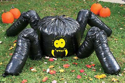 Spider Leaf Bag (Fun World - Giant Spider Leaf Bag Halloween Decoration Over 7 Feet)