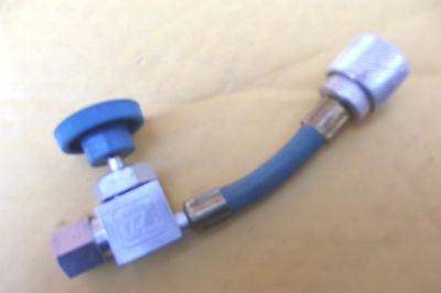 BLUE HOSE COUPLER WITH OPEN & CLOSE CONTROL SWITCH FOR A/C MADE BY ID