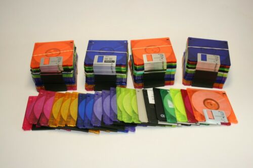 "Lot of 20 Used Floppy Disks Diskettes 3.5"" 1.44 MB Floppy Disks Discs"