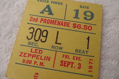 LED ZEPPELIN 1971 Original CONCERT Ticket STUB - MADISON SQUARE GARDEN, NYC