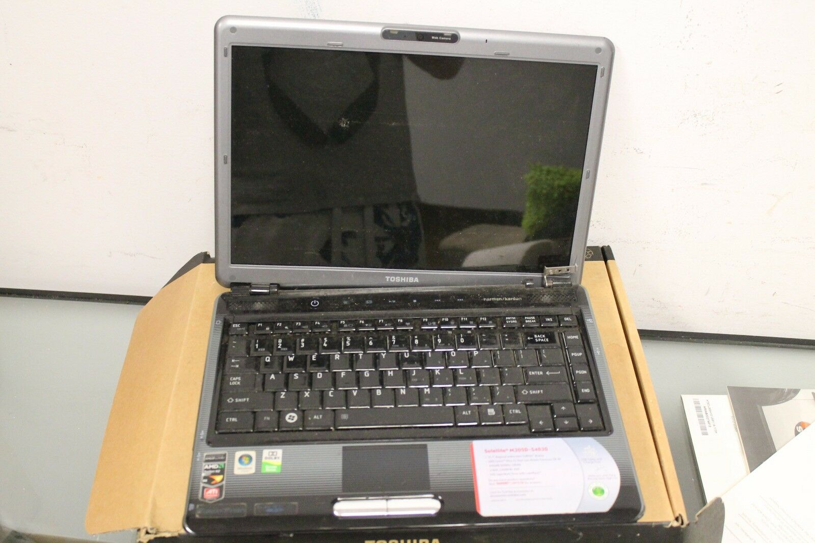 Toshiba Satellite m305d-s4830 FOR PARTS AS IS