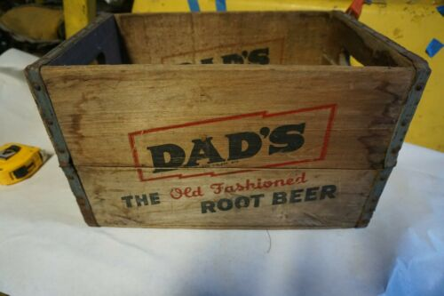 Vintage Dads Root Beer Soda Box Crate Youngstown O.