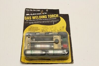 Archer Gas Brazing Torch Kit Soldering Iron 5000 Degrees Pinpoint Butane Welding