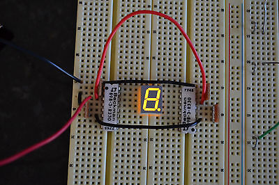 5 Pcs 7-segment Led Display Breadboard Ready Common Anode. Ships Quik Frm Usa