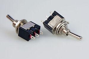 6 Stück Miniatur - Kipptaster/Schalter einpolig 2x Schliesser 230V~ 3A  7084
