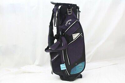Black 14 Way Top (New Callaway Golf Fusion 14 Way Top Stand Carry golf bag - Black Purple Titanium )