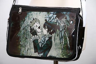 B-090 Black Butler Ciel Totenkopf Gothic Lack PVC Umhänge-Tasche Bag Manga Anime