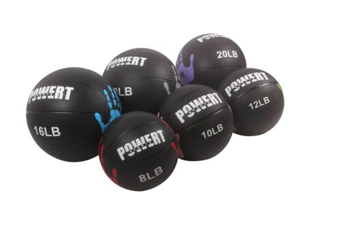POWERT Weighted Medicine Ball for Core Muscle Workout Fitness Exercise Therapy