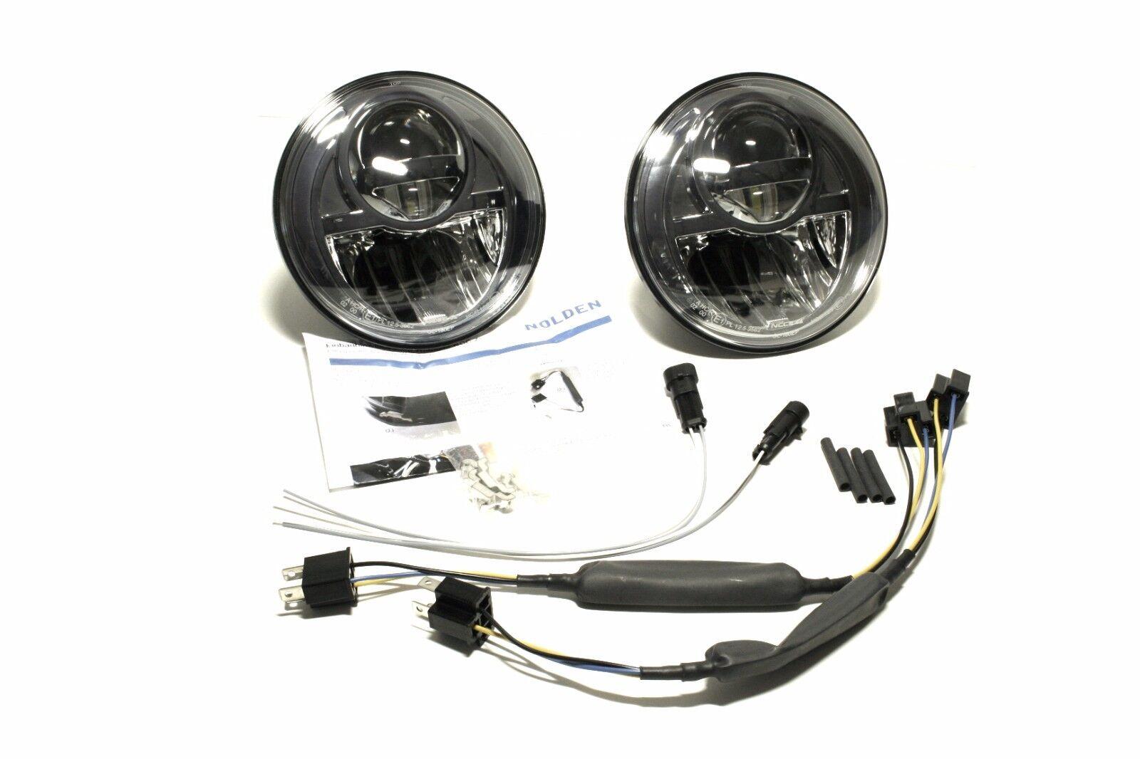 ncc nolden full led bi led hi lo headlights dark chrome. Black Bedroom Furniture Sets. Home Design Ideas