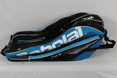 Babolat Pure Drive 12 Pack Tennis Racket  Bag Blue Black