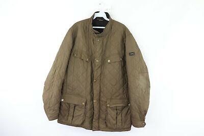 Barbour International Mens 2XL XXL Full Zip Outdoor Ariel Quilted Jacket Green