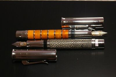 Graf von Faber Castell Pen Of Year 2004 Amber Room, 2005 Stingray Leather