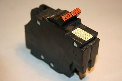 Federal Pacific 20 Amp 2-pole Breaker Type Nc Thin Save