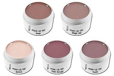 Make Up Camouflage UV-Gel Nude Aprikot Beige Rouge zur Auswahl Nageldesgin