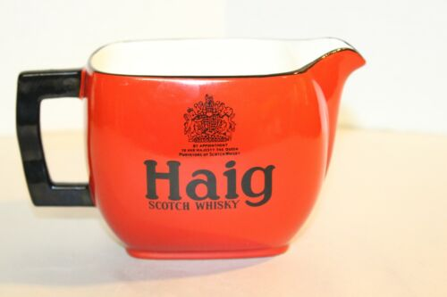 Vintage Small Red Haig Scotch Whisky Pitcher
