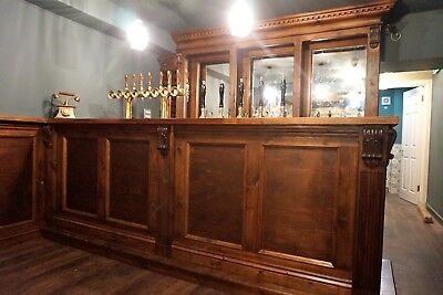 Bespoke 3m Solid wood counter top & Back Bar, Home Drinks unit
