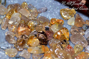 Tumbled Gemstone Natural Yellow Golden Rutilated Hair Quartz Rare Collectable 5g