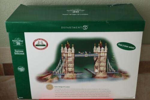 "Department 56 Dickens Series Tower Bridge of London ""Damaged"""