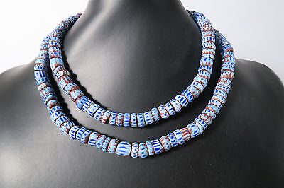 Alte Handelsperlen C Old Awale Sliced Chevron Trade beads Africa Afrozip