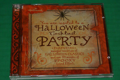 Haloween Cocktail Party + 20 Min. Of Spooky Sound (CD, 2005 - Hallmark) Vg Oop - 20 Min Halloween