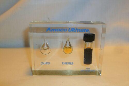 Vintage Amoco Lucite Acrylic Oil Desktop Display Sample - Diritness Test