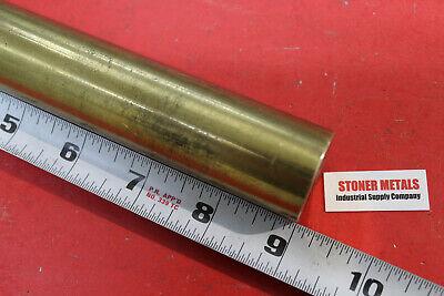 1-14 Brass C360 Round Bar 9 Long H02 Solid Rod New Lathe Bar Stock 1.25 Od