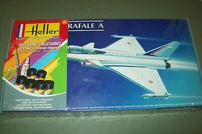 HELLER DASSAULT RAFALE A 1:72 scale kit with paints and glue