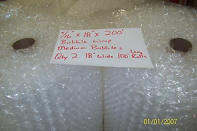 516 Wp Medium Bubble Cushioning Wrap Padding Roll 200 X 18 Wide 200ft Perf 12